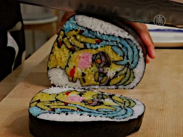 Японцы делают из суши «произведения искусства»