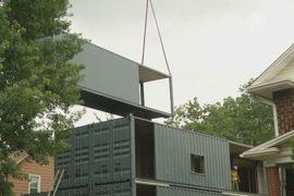 Дома строят из грузовых контейнеров