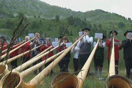 Фестиваль альпийского рога прошёл в Швейцарии