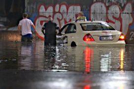 На западе Германии – наводнение из-за шторма