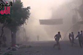 В Сирии бомбят окраины Дамаска