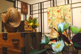 Кимоно вместо панно – высокий стиль Японии