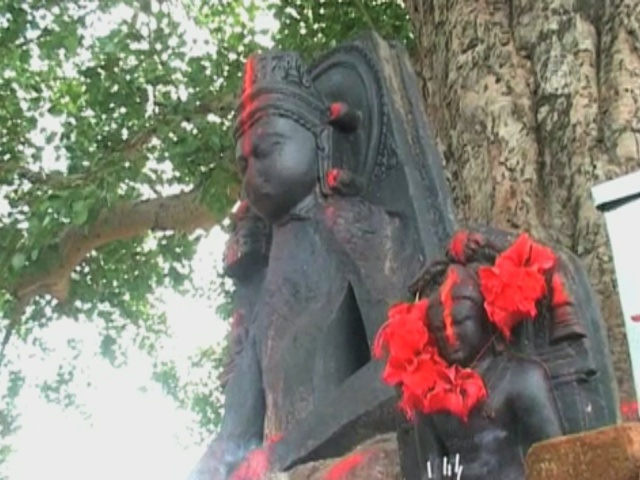 В поселке в Индии находят в земле статуи Будд