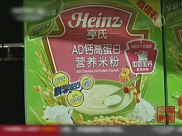 Heinz отозвал детские каши в Китае
