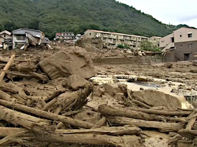 Хиросима пострадала от сильных оползней