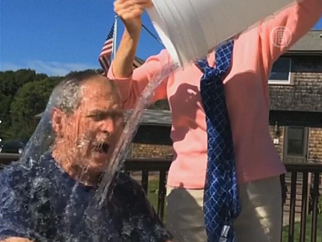 Зачем Джордж Буш облился холодной водой?