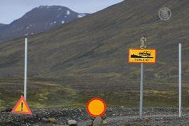 Из зоны исландского вулкана эвакуируют людей