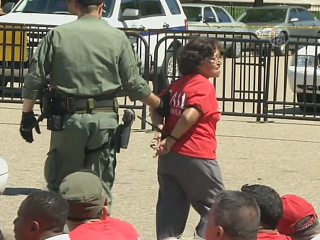 У Белого дома арестовали протестующих иммигрантов