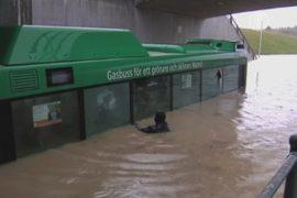 Ливни вызвали транспортный коллапс в Швеции