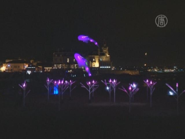Световое шоу озарило португальский город