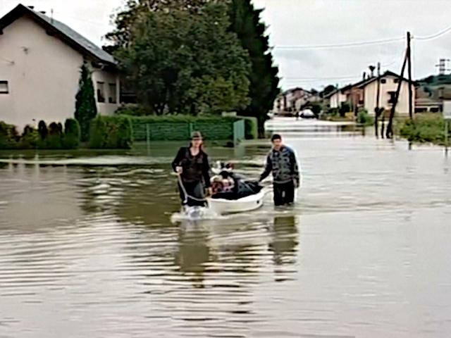 В Хорватии ливни вызвали наводнение