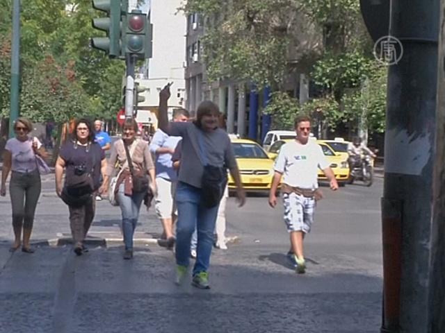 В Афинах бездомные проводят экскурсии