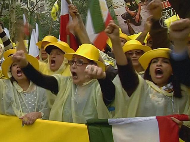 Президента Ирана встретили протестом в США