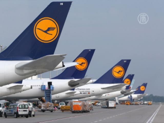 Пилоты Lufthansa снова бастуют
