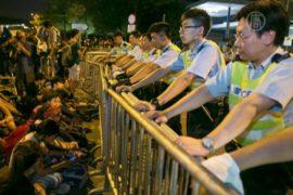 В Гонконге продолжается протест, пока спокойно