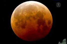 Редкую «кровавую Луну» наблюдали в ночь на четверг