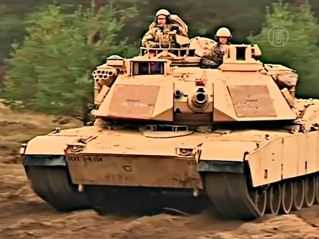 В Латвии встретили американские танки