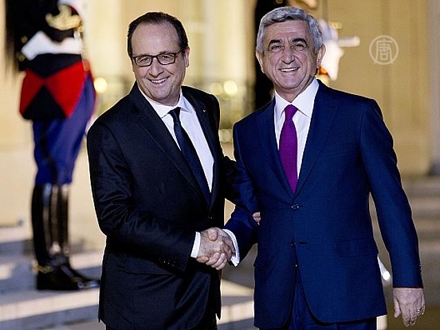 Главы Армении и Азербайджана встретились в Париже