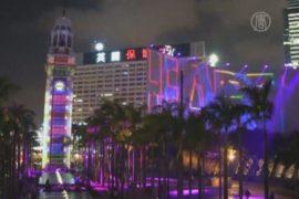 Гигантское 3D-шоу показывают в Гонконге