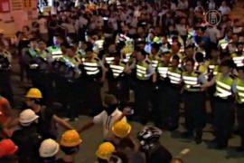 В Гонконге снова произошли стычки с полицией