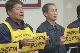 В Сеуле протестовали против договора с Пекином
