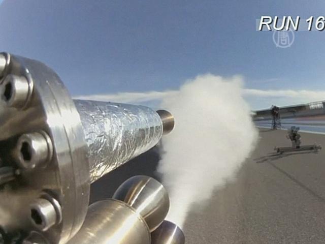 Установлен рекорд скорости на реактивном велосипеде