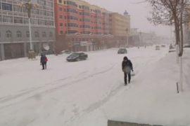 Северо-восток Китая завалило снегом