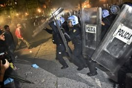 Протестующие в Мехико столкнулись с полицией