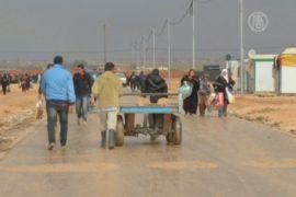 Беженцы из Сирии вынуждены мёрзнуть и мокнуть