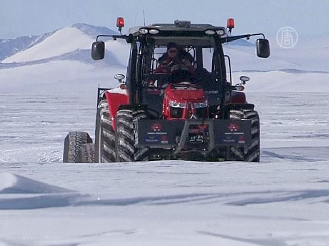 Актриса на тракторе отправилась к Южному полюсу
