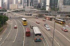 Центр Гонконга открыли для транспорта