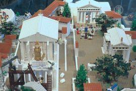 Афинский акрополь из Lego показали в Греции