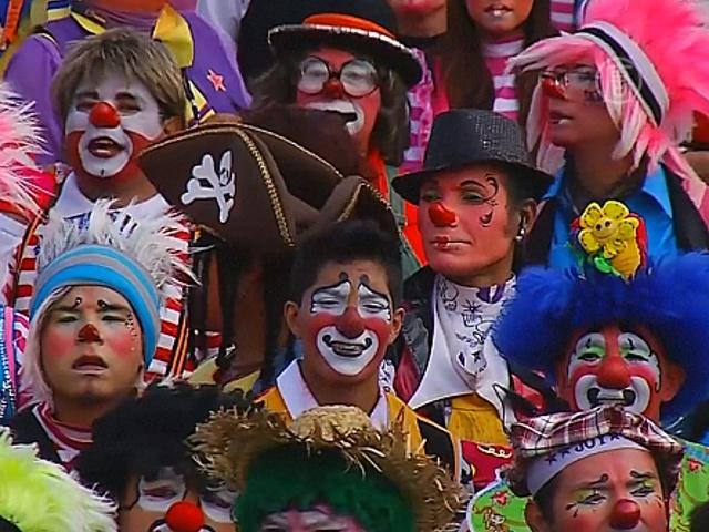 Клоуны собрались на ежегодный съезд в Мехико
