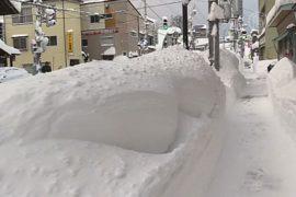 Снегопады в Японии: есть жертвы