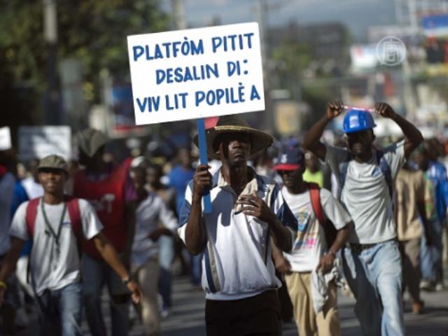 На Гаити снова прошёл антиправительственный марш
