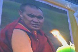 В Индии помолились за поджёгших себя тибетцев