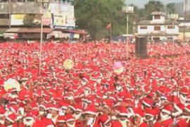 Индийцы побили рекорд по количеству Санта-Клаусов
