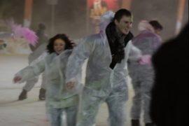 В Москве влюблённые раскрасили свою половинку