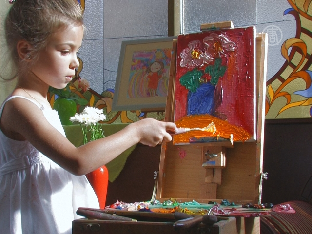 5-летняя художница открыла свою выставку в Киеве