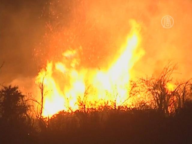 101 пожар бушевал в Чили