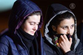 Освобожденные в Сирии итальянки вернулись домой