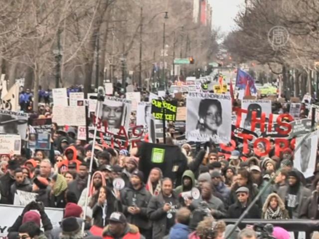 В День Мартина Лютера Кинга прошёл протест