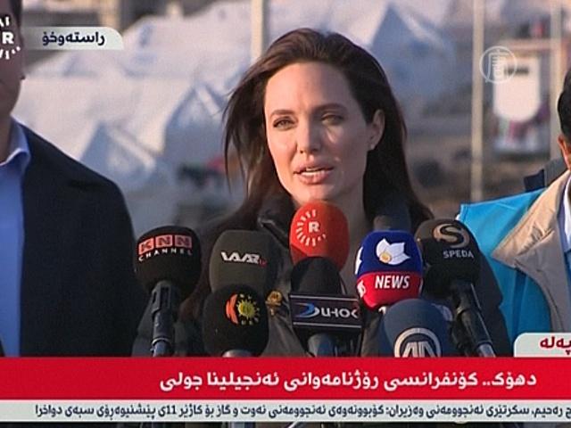 Джоли: мир не прошел испытание на помощь беженцам