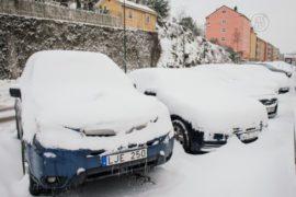 Снегопад в шведском городке побил 50-летний рекорд