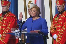 Первая женщина-президент Хорватии принесла присягу