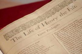 Редкое Первое фолио Шекспира прибыло в Лондон