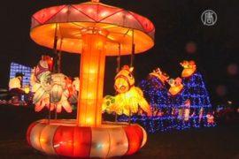 Тайваньцы отмечают Праздник фонарей