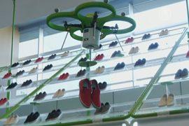 Обувь в Японии привозят беспилотники