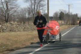 68-летняя британка бежит по США ради больных раком
