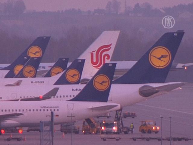 Lufthansa отменила 750 рейсов из-за стачки